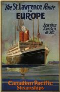 Vintage Travel Posters St. Lawrence Ship to Europe